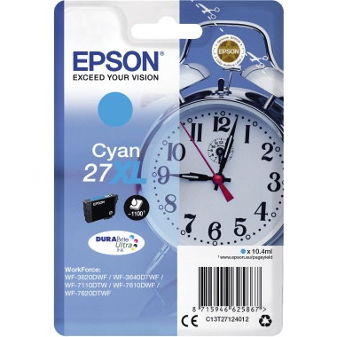 Epson Tintenpatrone 27XL cyan