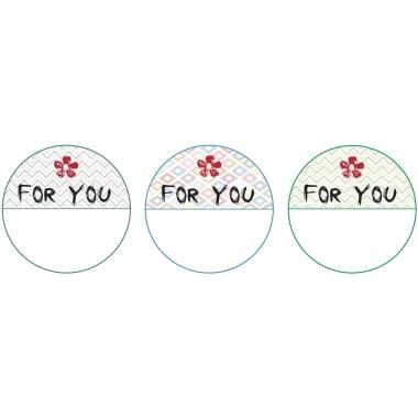 Z-Design Stickeretikett  rund Geschenkbeschriftung 3 Motive For You