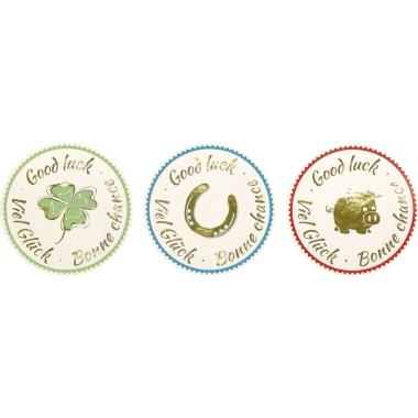 Z-Design Stickeretikett  rund Viel Glück 3 Motive