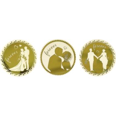 Z-Design Stickeretikett  rund Brautpaar 3 Motive forever