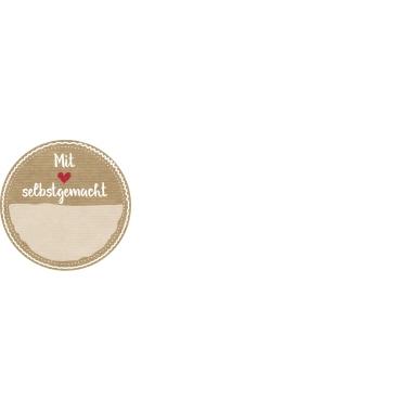 Z-Design Stickeretikett  rund Selbstgemacht 3 Motive