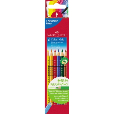 Faber-Castell Farbstift Colour GRIP  6 St./Pack.