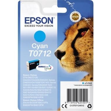 Epson Tintenpatrone  T0712 cyan