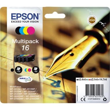 Epson Tintenpatrone  16 schwarz, cyan, magenta, gelb