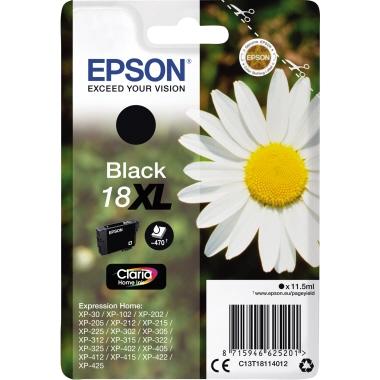 Epson Tintenpatrone  18XL schwarz