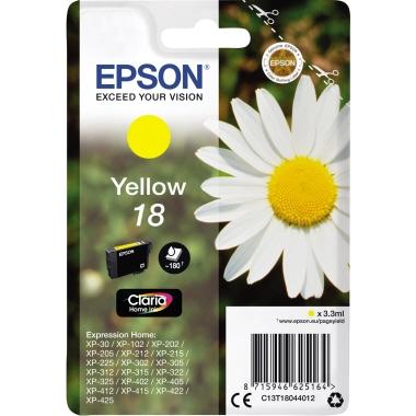 Epson Tintenpatrone  18 gelb