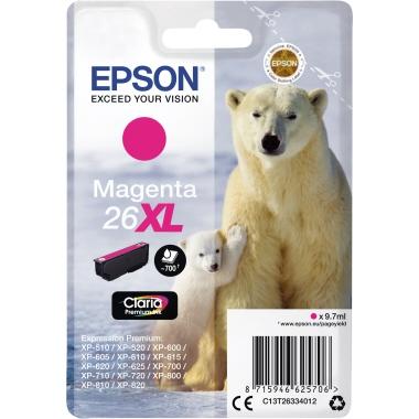 Epson Tintenpatrone  26XL magenta