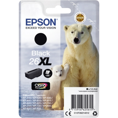 Epson Tintenpatrone 26XL schwarz