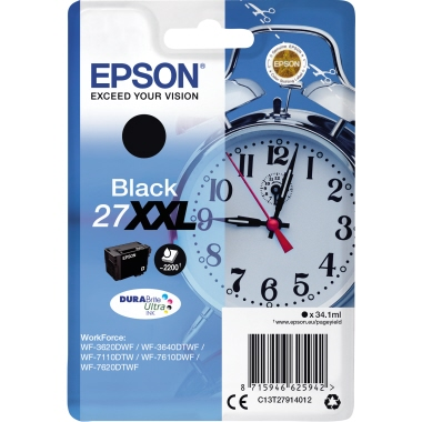 Epson Tintenpatrone 27XXL