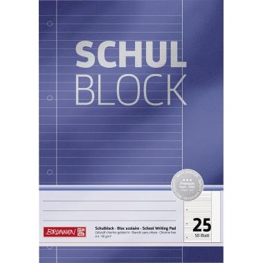 BRUNNEN Schulblock Premium  liniert mit Rand
