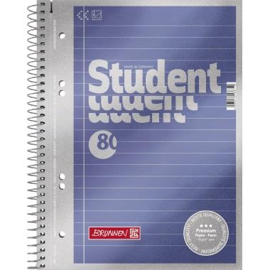 BRUNNEN Collegeblock Student Premium  DIN A5 liniert mit Rand