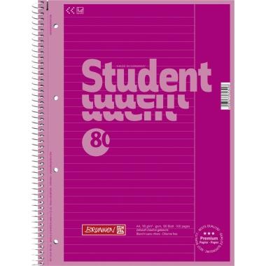 BRUNNEN Collegeblock Student Colour Code  liniert mit Rand