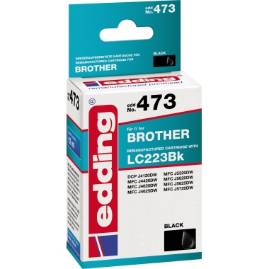 edding Tintenpatrone Brother LC223  schwarz