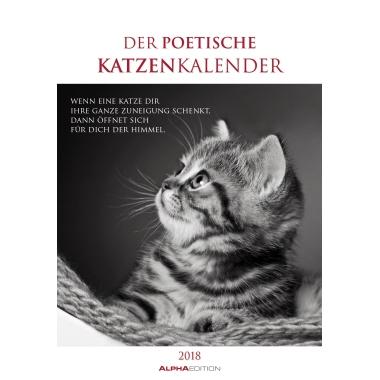 ALPHA EDITION Wandkalender  24 x 34 cm (B x H) Der poetische Katzenkalender