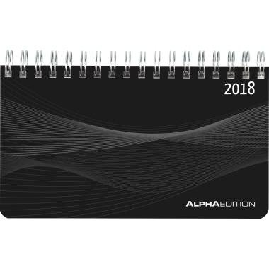 ALPHA EDITION Schreibtischquerkalender Mini