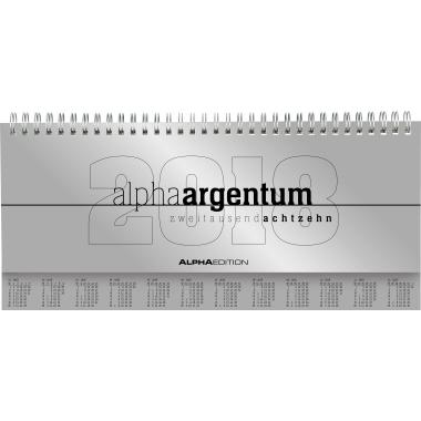 ALPHA EDITION Schreibtischquerkalender alpha  29,7 x 13,5 cm (B x H) 2018