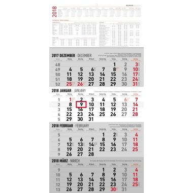 ALPHA EDITION Wandkalender 30 x 60 cm (B x H)