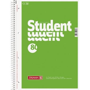 BRUNNEN Collegeblock Student  DIN A4 blanko 80 Bl.