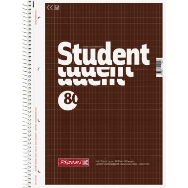 BRUNNEN Collegeblock Student  DIN A4 rautiert 80 Bl.