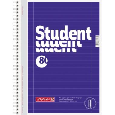 BRUNNEN Collegeblock Student  liniert mit Rand innen/außen