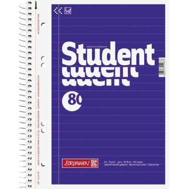 BRUNNEN Collegeblock Student  liniert
