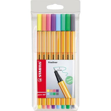 STABILO® Fineliner point 88®  8 St./Pack.