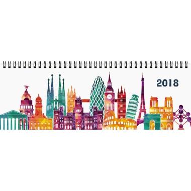 ZETTLER Schreibtischquerkalender 2018  32 x 11 cm (B x H) 8-20 Uhr