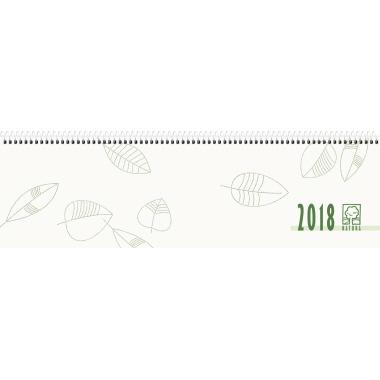ZETTLER Schreibtischquerkalender 2018  36 x 10,5 cm (B x H) 7-20 Uhr