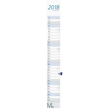 ZETTLER Streifenkalender  2018 grau/blau