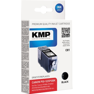 KMP Tintenpatrone Canon PGI525PGBK