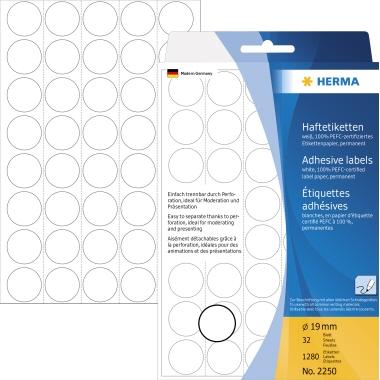 HERMA Markierungspunkt  19 mm 1.280 Etik./Pack.
