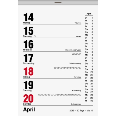 BRUNNEN Abreißkalender
