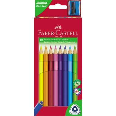 Faber-Castell Farbstift Triangular Jumbo 10 St./Pack.