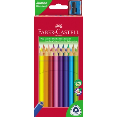 Faber-Castell Farbstift Triangular Jumbo  20 St./Pack.