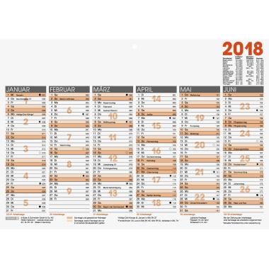 BRUNNEN Tafelkalender 701  DIN A4 quer zweifarbig