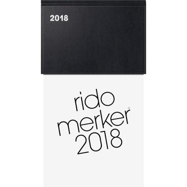 rido/idé Tischkalender Merker 2018