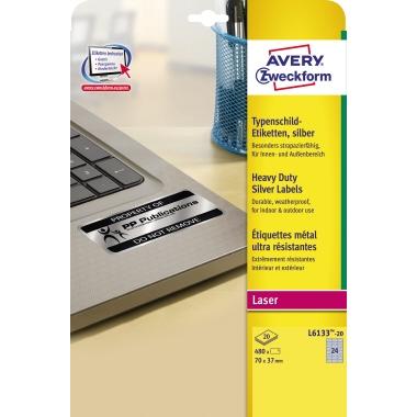 Avery Zweckform Typenschildetikett  70 x 37 mm (B x H)