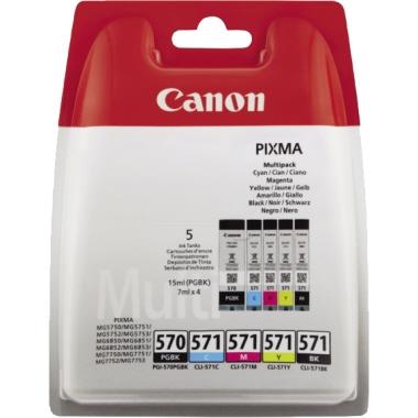 Canon Tintenpatrone  PGI570/CLI571 5 St./Pack.