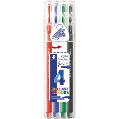 STAEDTLER® Fineliner triplus® Broadliner 338  4 St./Pack.