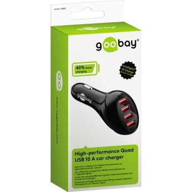 Goobay® Kfz Ladegerät Quad 4 USB Ports