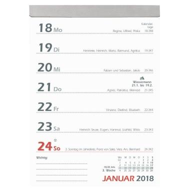 ZETTLER Abreißkalender  1 Woche/1 Seite