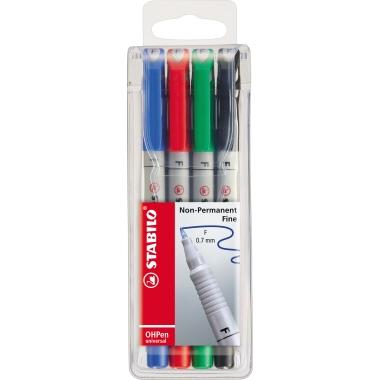 STABILO® Folienstift OHPen universal  0,7 mm 4 St./Pack.