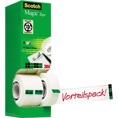 Scotch® Klebefilm Magic™ 810  25 mm 8 Rl./Pack.