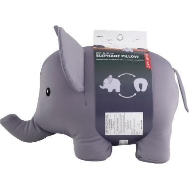 KIKKERLAND Nackenstütze Zip & Flip Elefant