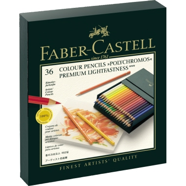 Faber-Castell Künstlerfarbstift POLYCHROMOS®  Kunststoffetui 36 St./Pack.