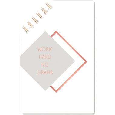 Grafik Werkstatt Das Original Notizblock  WORK HARD NO DRAMA