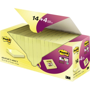 Post-it® Haftnotiz Super Sticky Z-Notes  18 Block/Pack.