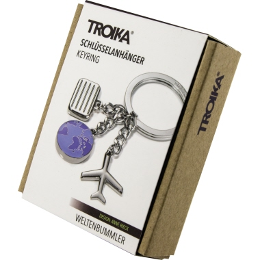 TROIKA® Schlüsselanhänger WELTENBUMMLER