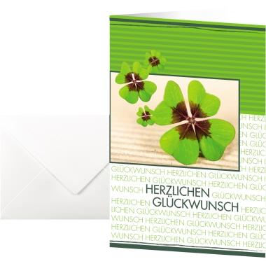 Sigel Faltkarte Glückwunsch 115 x 170 mm (B x H) Außenseite: hochglänzend, Innenseite: matt