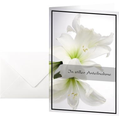 Sigel Faltkarte Trauerkarte 115 x 170 mm (B x H)